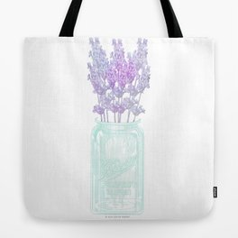 Lavender in Mason Jar Tote Bag