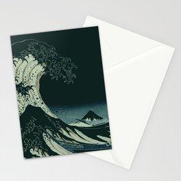 Hokusai Great Wave off Kanagawa at Night Stationery Cards