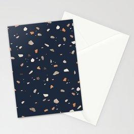 Midnight Navy Terrazzo #1 #decor #art #society6 Stationery Cards