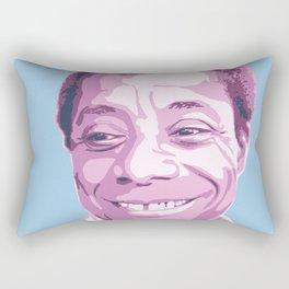 James Baldwin Portrait Blue Purple Rectangular Pillow