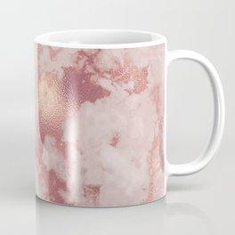 Copper Metal Veins on Marble Coffee Mug