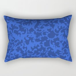 Sapphire Ornamentation Rectangular Pillow