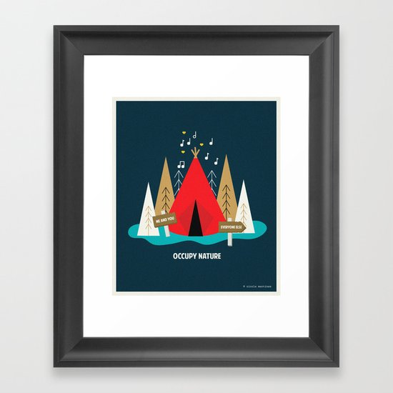 We are the 100%  Framed Art Print