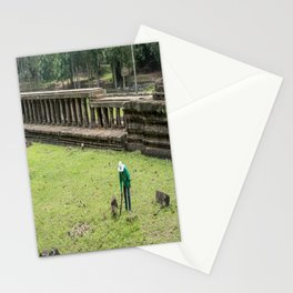 Trimming Grass With a Machete, Angkor Thom, Siem Reap, Cambodia Stationery Cards