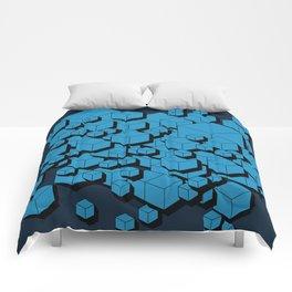 3D Futuristic Cubes VIII Comforters