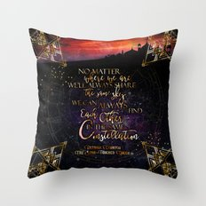 Constellation - The Star Touched Queen Throw Pillow