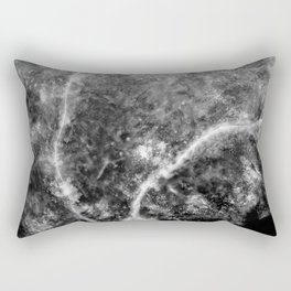 Abstract Black And White Nebula Rectangular Pillow