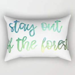 Stay out of the Forest Watercolor Rectangular Pillow