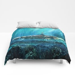 Steampunk Submarine Comforters