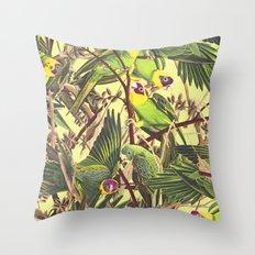 Parrot Party Throw Pillow