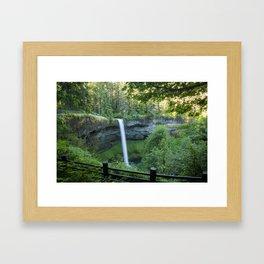 Feel My Waterfall Framed Art Print