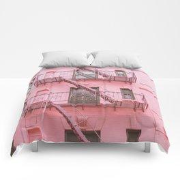 Pink Soho NYC Comforters