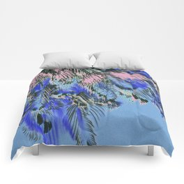 feather texture in blue and light pink Comforters