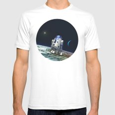 R2 In The Moon White Mens Fitted Tee MEDIUM