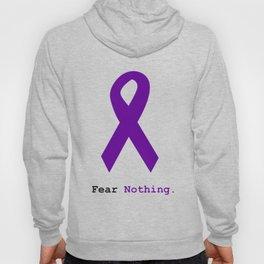 Fear Nothing: Purple Ribbon Awareness Hoody