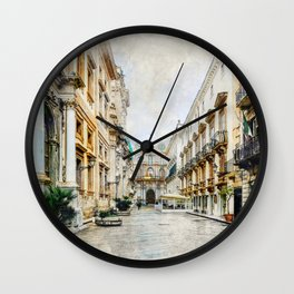 Trapani art 1 Wall Clock