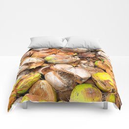 Coconut Husk Photography. Coir. Coconut Fibre. Coir Fibres Comforters