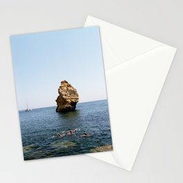 Rock and swimmers Stationery Cards