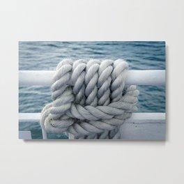 Nautical robe knot Metal Print