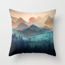 Wilderness Becomes Alive at Night Throw Pillow