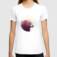 purple T-shirts featuring Bear // Calm by Amy Hamilton