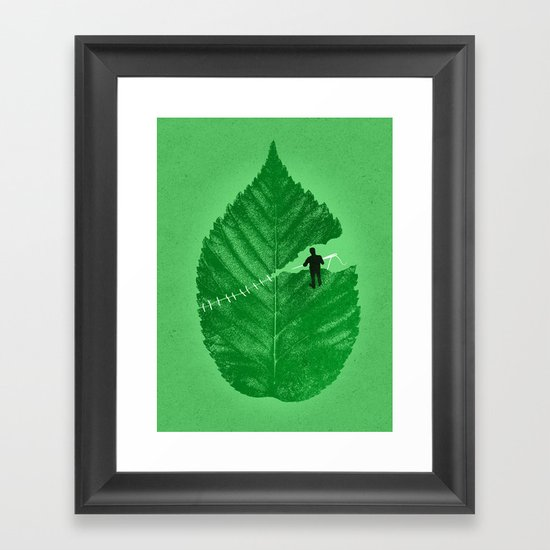 Loose Leaf Framed Art Print