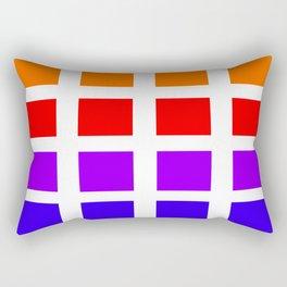 Colorful Art rainbow swatches pattern Rectangular Pillow