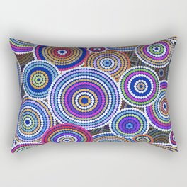 Colorfull Aboriginal Dot Art Pattern Rectangular Pillow