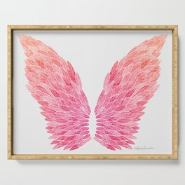 Pink Angel Wings Serving Tray