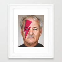 bill murray Framed Art Prints featuring bill murray by lapinette