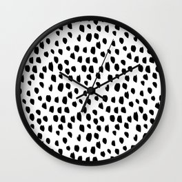 Hand drawn drops and dots on white - Mix & Match with Simplicty of life Wall Clock