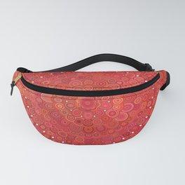 Red Floral Mandala Fanny Pack