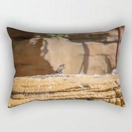 Bird Bath Rectangular Pillow