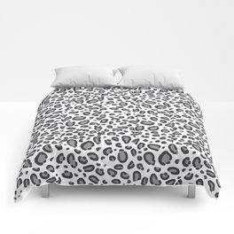 Cheetah pattern animal spots animal print pattern minimal black and white Comforters