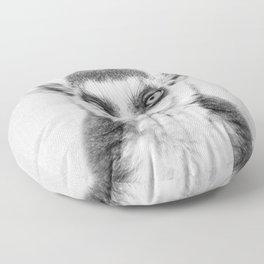Lemur 2 - Black & White Floor Pillow
