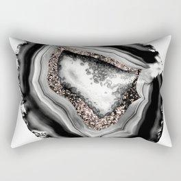 Agate Rose Gold Glitter Glam #1 #gem #decor #art #society6 Rectangular Pillow