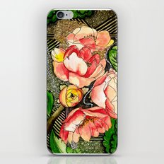 Flower Mixed-Media iPhone & iPod Skin