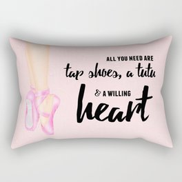 Tap shoes, tutu & heart Rectangular Pillow