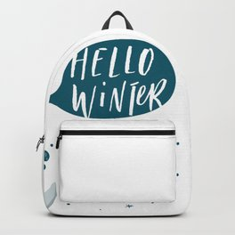 Hello Winter From Rabbit Backpack
