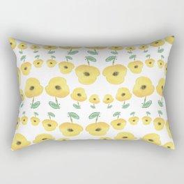 yellow poppies dance Rectangular Pillow