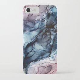 Blush and Darkness Abstract Paintings iPhone Case