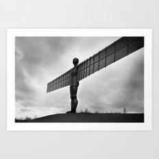 Angel of the North, Newcastle, England. Art Print