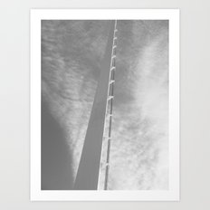 Places in Black & White: Sundial Bridge 8 Art Print
