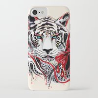 tiger iPhone & iPod Cases featuring White Tiger by Felicia Cirstea