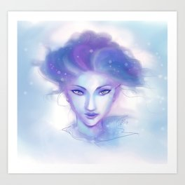 Snow Fae Art Print