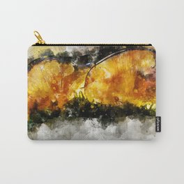 Forest Yellow Mushroom Carry-All Pouch