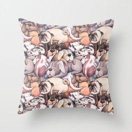 Sleeping Dogs Pattern Throw Pillow