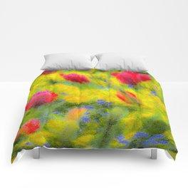 English Summer Flowers Pastel Comforters