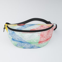 Abstract Lace Fanny Pack