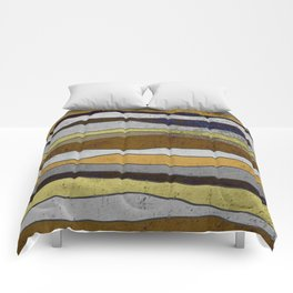 Nordic Layers - Abstract, Textured Art Comforters